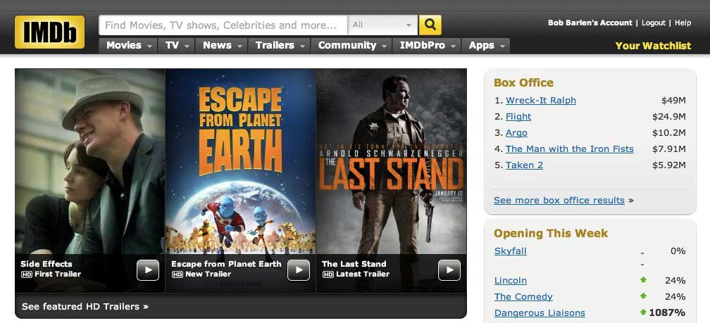 IMDb-Front-Page