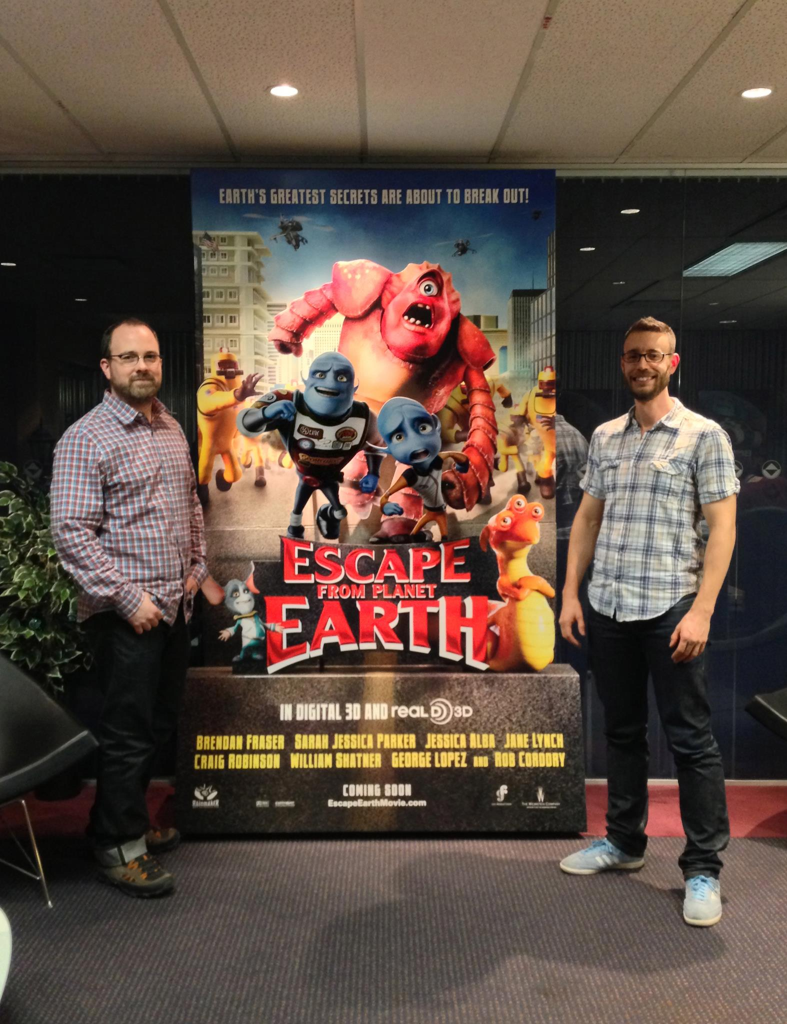 The Escape From Planet Earth standee, in the Rainmaker Lobby!