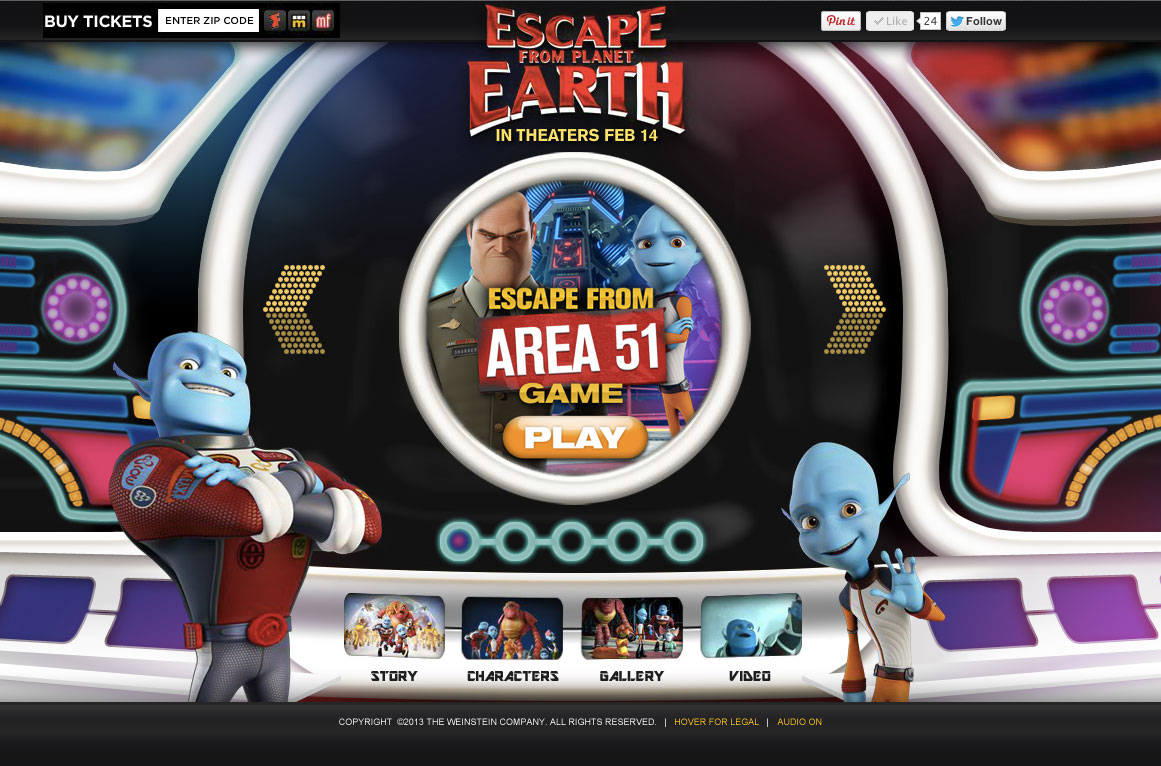 Escape From Planet Earth - Official Website